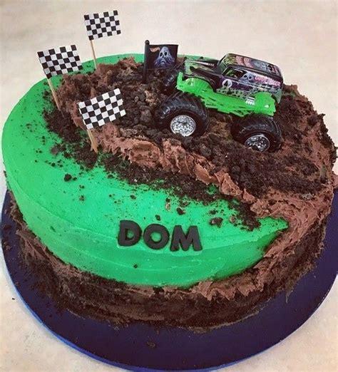 monster truck cakes ideas  pinterest monster