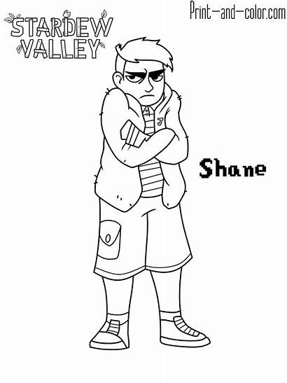 Stardew Valley Coloring Pages Shane Characters Villagers