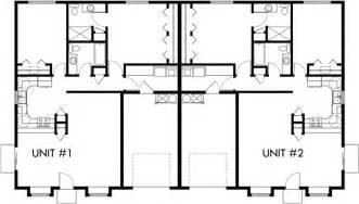 bedroom duplex plans floor plan 2 for d 583 one story duplex house plans