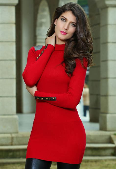 Red Sweater Dress | Dressed Up Girl