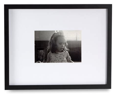 picture frames with mats black photo frame w large mat fits 5 x 7 or 11 x 14