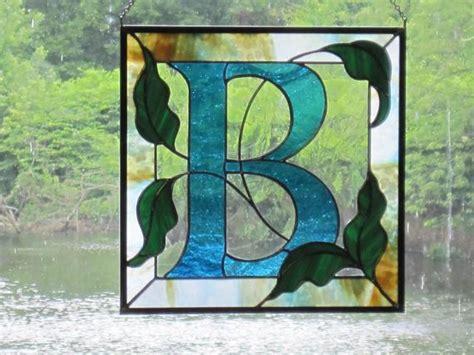 items similar  custom stained glass monogram  etsy