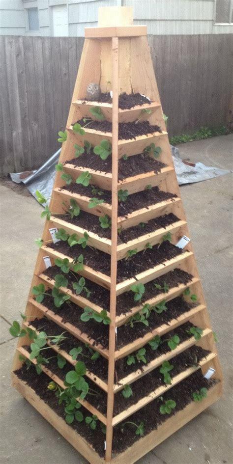 build a vertical garden how to build a vertical garden pyramid tower for your next diy outdoor project