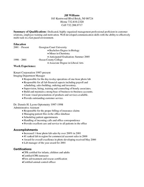 resume summary of qualifications entry level medical billing resume sles summary of qualifications