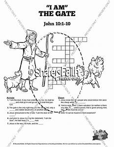john 10 i am the door sunday school crossword puzzles With current reviews 1