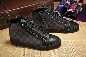 Sneakers Louis Vuitton Homme : louis vuitton hommes damier chaussures de sport echiquier ~ Nature-et-papiers.com Idées de Décoration