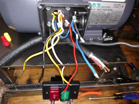 wiring  farm duty single phase  motor  thermal overload