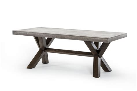 cement top dining table modrest urban concrete rectangular dining table