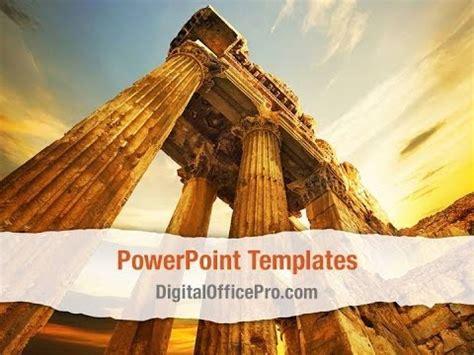 roman columns powerpoint template backgrounds
