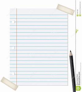 Lined Paper With Pencil Royalty Free Stock Photos - Image ...