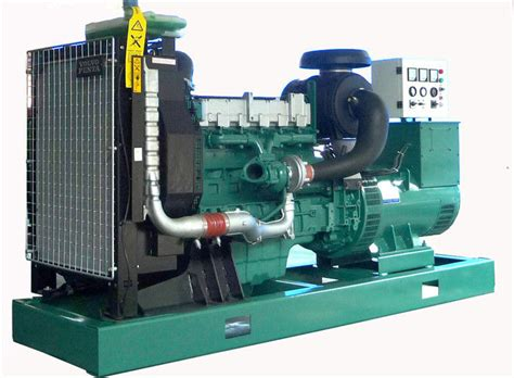 Volvo Engine Open Type Diesel Generator 200kw 400v / 440v