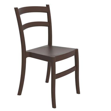 chaise en polypropylène chaise de jardin en polypropylène 4 pieds