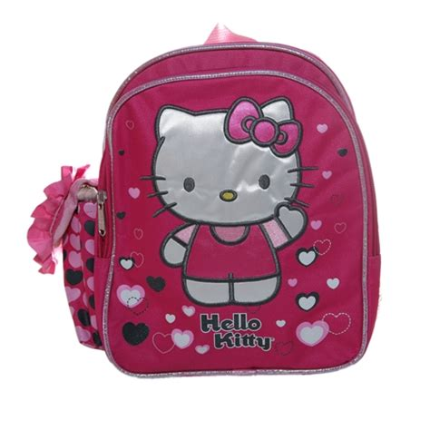 hello kitty hearts toddler backpack bag 440 | 875598628574 2