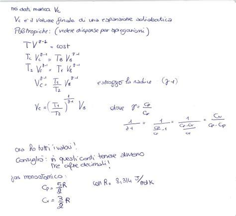 termodinamica dispense fisica 1 termodinamica esercizio 1 la matepratica