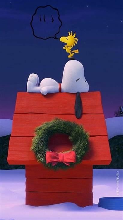Snoopy Charlie Brown Peanuts Pantalla Iphone Navidad