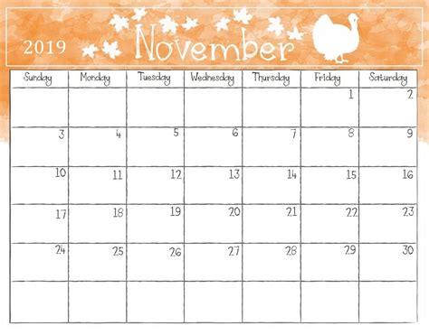 cute november  calendar qualads