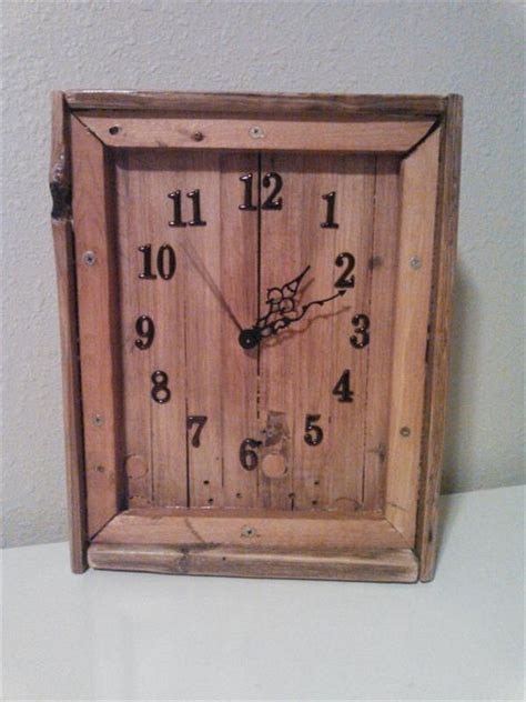 pdf diy wooden wall clock reclaimed wood pallet wall clock plans pallet wood projects