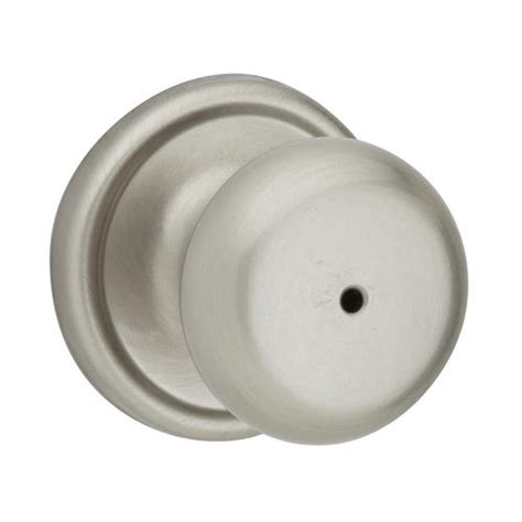 kwikset juno satin nickel bed bath privacy knob at menards 174