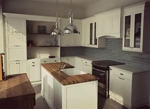 cuisine blanche de style cape cod et melamine bois fonce With cuisine blanche et bois