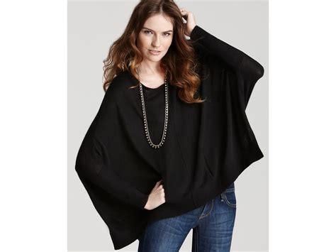 Dkny C Poncho Sweater In Black
