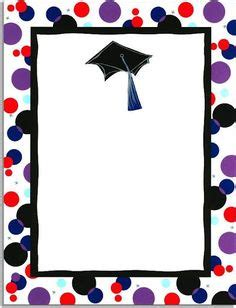free printable graduation paper mortar hat border letterhead write your graduate a personal