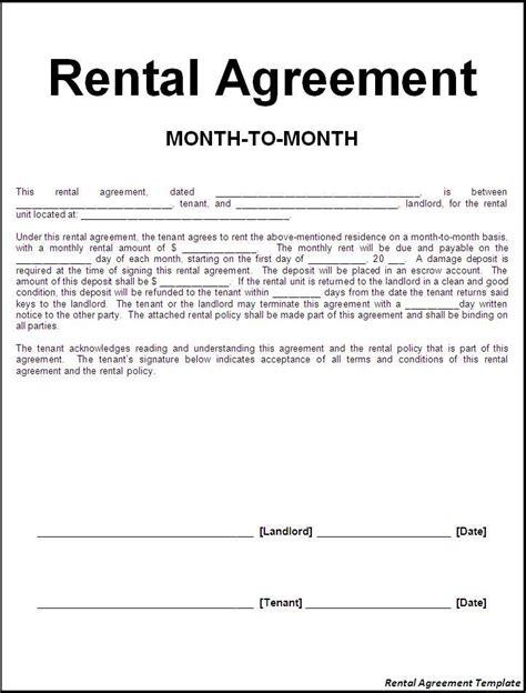 rental agreement letter letter of intent rental agreement sle lease agreement 15480