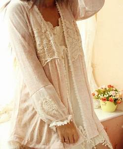 love this perfect cozy version of a lace robe vintage With robe vintage love