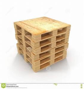 Palette Bois Gratuite : palettes en bois empil es l 39 un sur l 39 autre d 39 isolement sur ~ Melissatoandfro.com Idées de Décoration