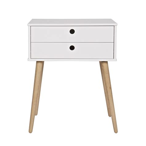 2 drawer end table retro 2 drawer side table in pine woood cuckooland