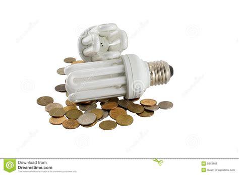 two electric energy saving light bulbs stock image image