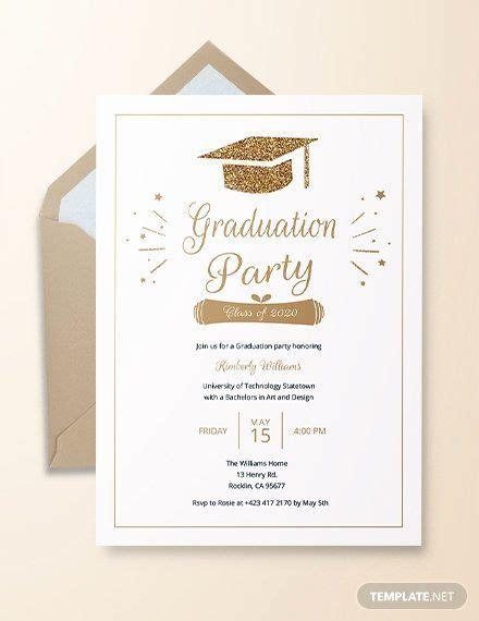 Unique Free Graduation Party Invitation Template in 2020