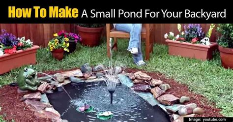How To Build A Small Pond In Your Backyard by How To Build A Lined Fit Anywhere Looking
