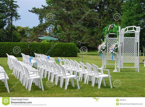 Outdoor Wedding Setup Stock Photography   Image: 2634072
