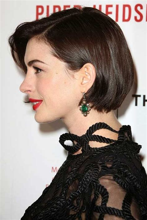 10 Anne Hathaway Bob Haircuts   Bob Hairstyles 2017