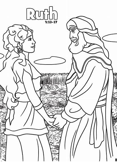 Ruth Coloring Bible Books Activities Activity Answers