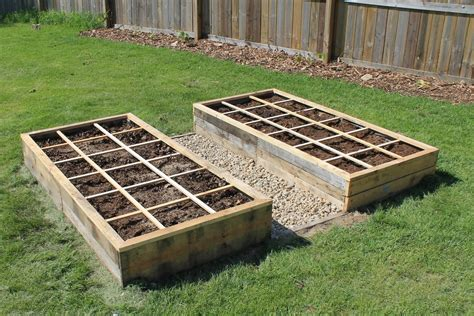 unfinished diy raised garden planter box for backyard