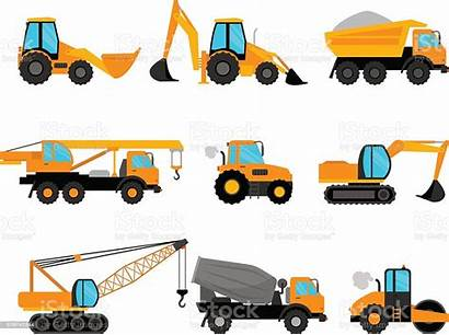 Equipment Building Construction Machinery Vector Illustration Abstract