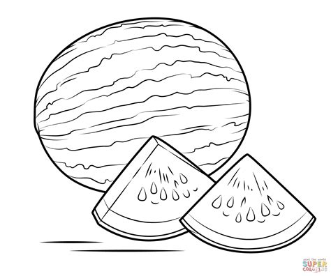 watermelon coloring page  printable coloring pages