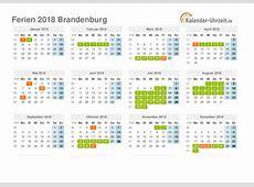 Ferien Brandenburg 2018 Ferienkalender zum Ausdrucken
