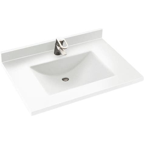 Swan Contour 31 in. W x 22 in. D Solid Surface Vanity Top