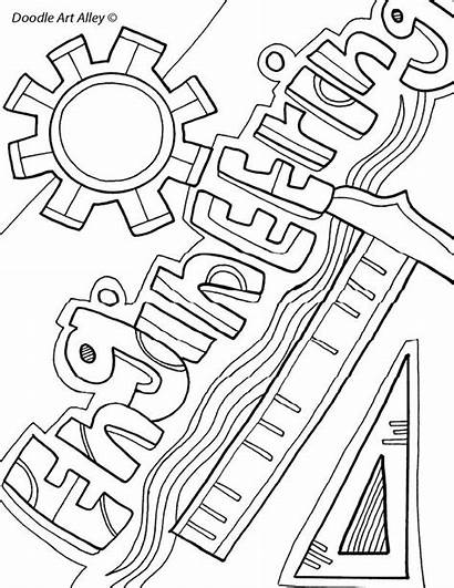 Coloring Pages Grammar Engineering Binder Sheets Subject