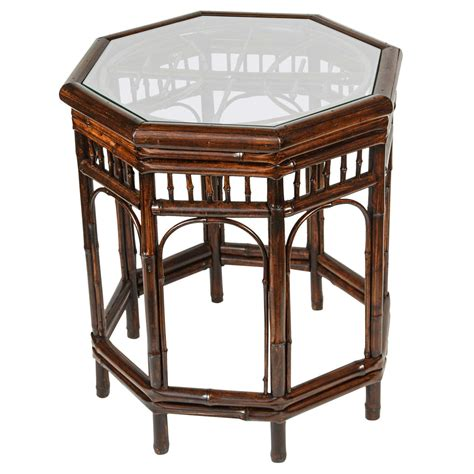 Vintage Bamboo Side Table At 1stdibs