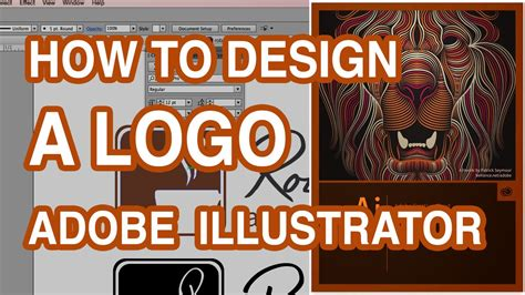 how to design a logo make your own logo illustrator tutorial youtube