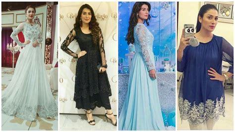 beautiful aiza khan  stylish designer dress youtube