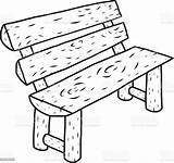Cartoon Wooden Bench Benches Sketch Drawn Clip Chair Ancient Antique Seat Illustrations Isolated Thailand Istockphoto sketch template
