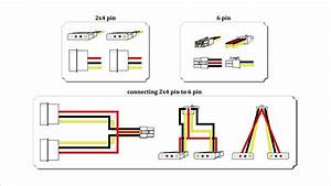 How To Make 2x4 Pin To 6 Pin Cabel  Gpu Adapter