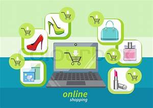 Online Shop De : online shopping icons store elements fashion purchases bag tag shoes gift lable smartphone with ~ Buech-reservation.com Haus und Dekorationen
