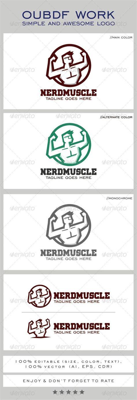 Templates Nerd by Nerd Muscle Logo Mascot Logo Design Template Logos And