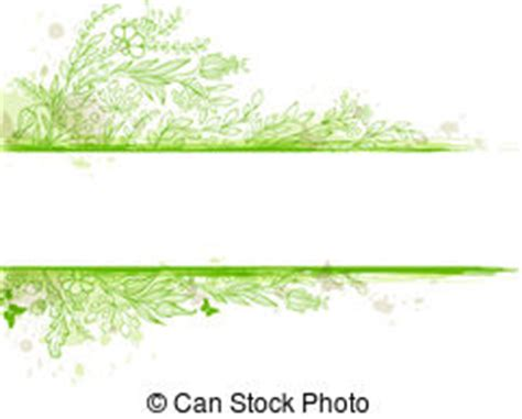 Blumenranke Grün Horizontal by Gr 252 N Lizenzfreie Vektor Clip 843 678 Gr 252 N Clipart