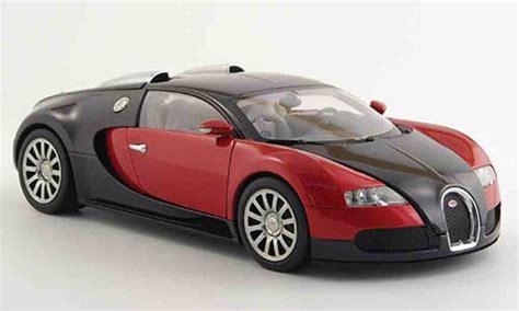 bugatti veyron  miniature eb rouge noire autoart